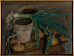 Nature morte au poireau by Robert Maurice