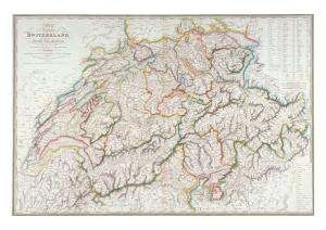 Map of the Republic of Switzerland by Weiss Kellar & Cie