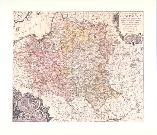 Mappa Geographica Regni Poloniae…tradita per Homannianos Heredes. Nrimbergae 1773. by Mayer Tobias