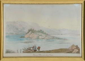 Island of St. Peter on the lake of Bienne by Smith Charles Hamilton
